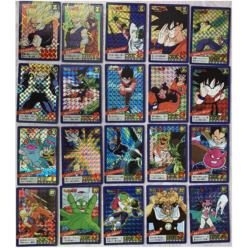 40pcs Cards DRAGON BALL Z Goku Broly Flash Card Action Toy Figures Commemorative Edition Game Flash Card Collection Cards