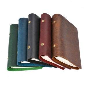 Image 2 - Cahier daffaires classique, cahier, couverture en cuir véritable, feuille ample, carnet de voyage, Journal de voyage, carnet de croquis, offre spéciale