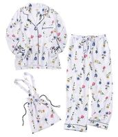RenYvtil Three piece Japan Flower Long Sleeve Pajamas 2018 New Fashion Autumn Women's Home Cloth Pant Set Sleepwear Nightwear