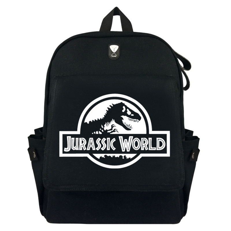 Jurassic World SPN Canvas Rucksack Backpack Student Schoolbag Bag Travel Laptop Cosplay Bag Gifts