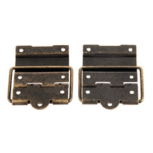 2Pcs 52x41MM Antique Cabinet Door Hinge Furniture Accessories Wood Gift Box Hinge Printing Packaging Jewelry Box DIY Accessories [haotian vegetarian] chinese ming and qing furniture antique copper accessories copper hinge door hinge htf 109