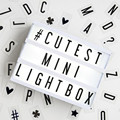 A4 LED Cinematic Light Box USB Power 85pcs Cards Letter Light Box Plaques Sign Home Decoration Garden Ornaments Cinema Light
