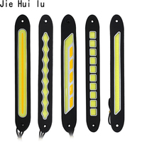 12v Daytime Running Light Waterproof Cob Led Day Light Fog Light Turning Signal Flexible Cars Running Lights For Motor Atv Suv
