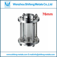 3'' 76mm welded Sanitary Sight Glass, Stainless Steel 304 straight sight glass