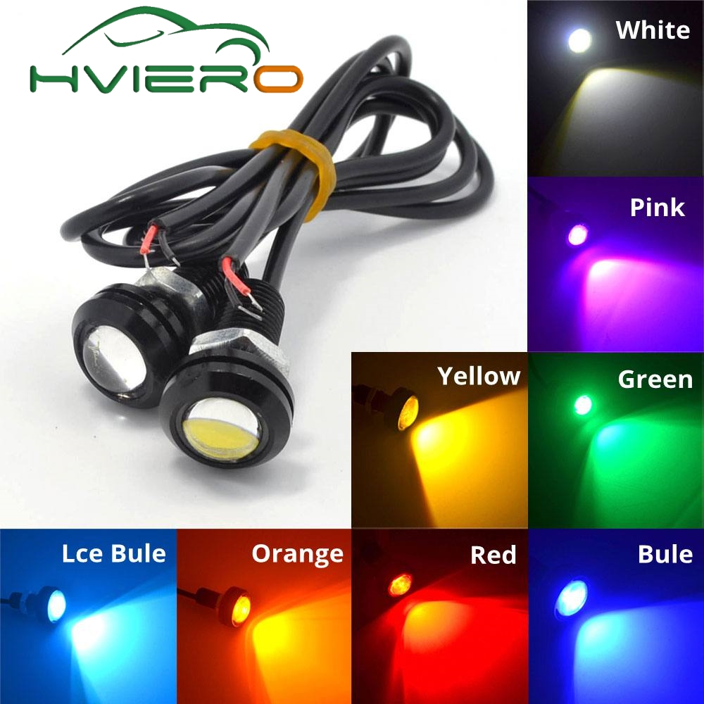 White Red Blue yellow 18mm 9w DC 12V Led Eagle Eye Light Daytime Running Drl Backup Car Motor Parking Signal Lamps Waterproof cellular line 12660