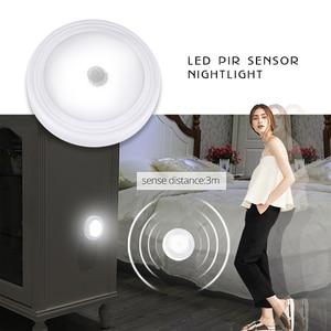 Image 1 - Foxanon LED לילה אור עם PIR Motion חיישן קל להתקין אלחוטי קיר ארון מדרגות מנורת סוללה כוח עיתונות מגע תאורה