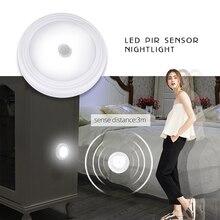 Foxanon LED lampka nocna z czujnikiem ruchu PIR łatwa instalacja bezprzewodowa szafa ścienna schody akumulator lampy Power Press Touch Lighting