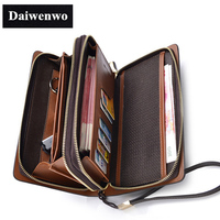 M50 Fashion Pierced Famous Designer Brands High Quality Men Wallets Waterproof Luxury High Capacity Friend Gift
