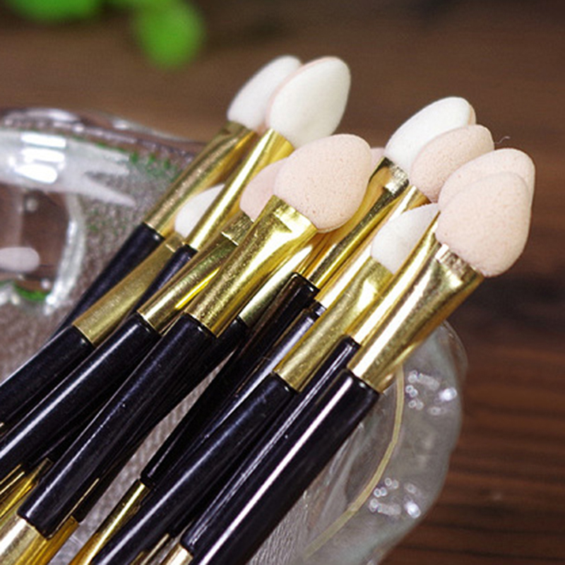 10PCS Double-end <font><b>Eye</b></font> <font><b>Shadow</b></font> <font><b>Applicator</b></font> Sponge Eyeshadow Makeup <font><b>Applicator</b></font> Professional Beauty Vosmetic Make up Tool maquillaje image
