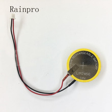 2 Cái/lốc Pin Sạc Hàn Pin LIR2450 2450 3.6V 110 MAh Pin Lithium Lấy Cắm