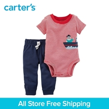 Carter's 2-Piece baby children kids clothing Boy Summer cotton Bodysuit Pant Set 21I102