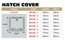OCEANSOUTH Marine Boat Hatch Protection Canvas Square Cover Blue 8 Sizes