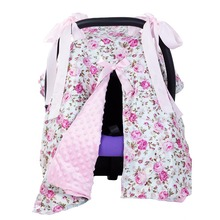 Baby Car Seat Blanket Cover Fashion Bow Newborn Baby Girls Soft Safety Car Seat Canopy Nursing Cover Multi-use Blanket Cover