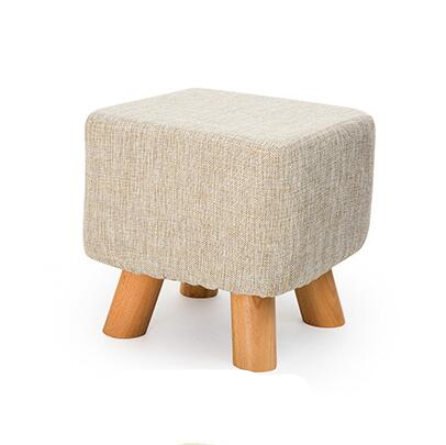 Modern Shoe Stool Stable 4 Leg Solid Wood Sit Stool Soft