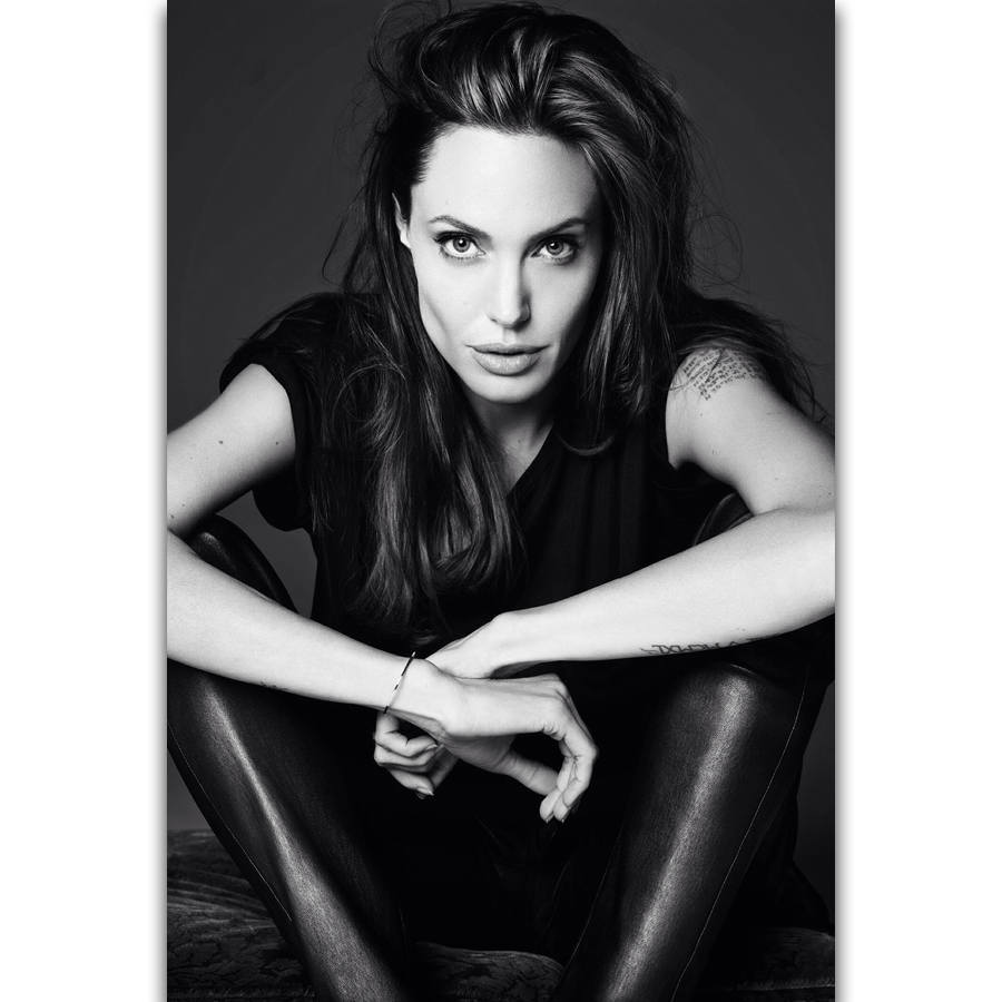 Angelina Jolie Hot And Sexy Pics us $5.49 |s1400 angelina jolie beautiful movie star actress sexy hot wall  art painting print on silk canvas poster home decoration-in painting &
