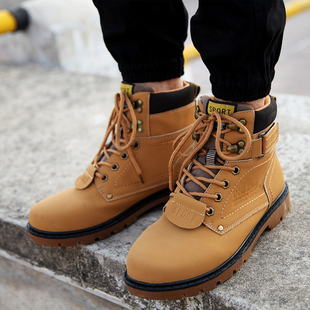 Lace Up Brown Winter Shoes