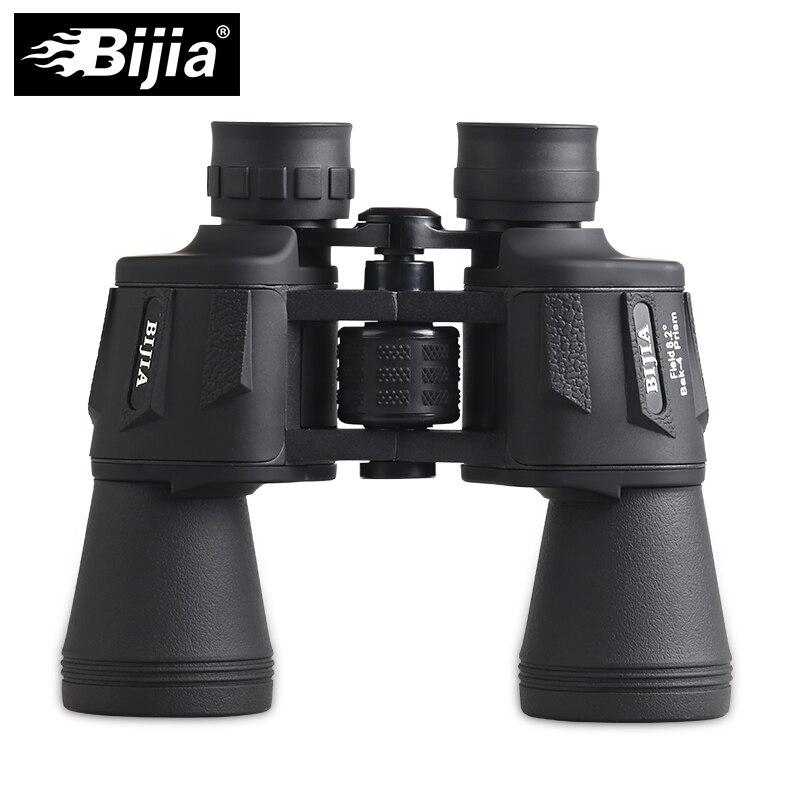 BIJIA 20x50 binoculars high magnification long range waterproof purple coating theater bird watching sports telescope