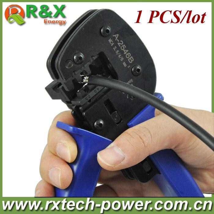 MC3 solar crimping tool for MC3 solar PV connector, used for 2.5/4/6mm2 solar cable, Solar PV crimping tools.