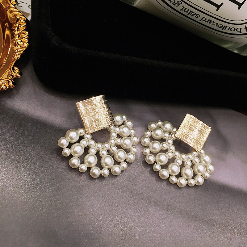 pearl Geometric  Earrings  3