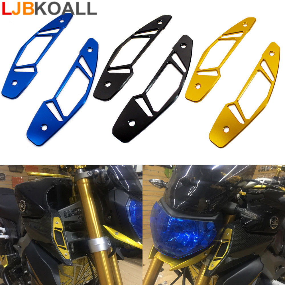 LJBKOALL Motorcycle Air Intake Covers Left And Right Cover For YAMAHA MT-09 MT 09 MT09 FZ09 FZ-09 FZ 2013 2014 2015 2016