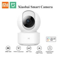 Обновление Xiao mi jia Chuang mi 1080P HD Беспроводная ip-камера 360 Угол CCTV WiFi панорамирование ночного видения веб-камера для mi умного дома