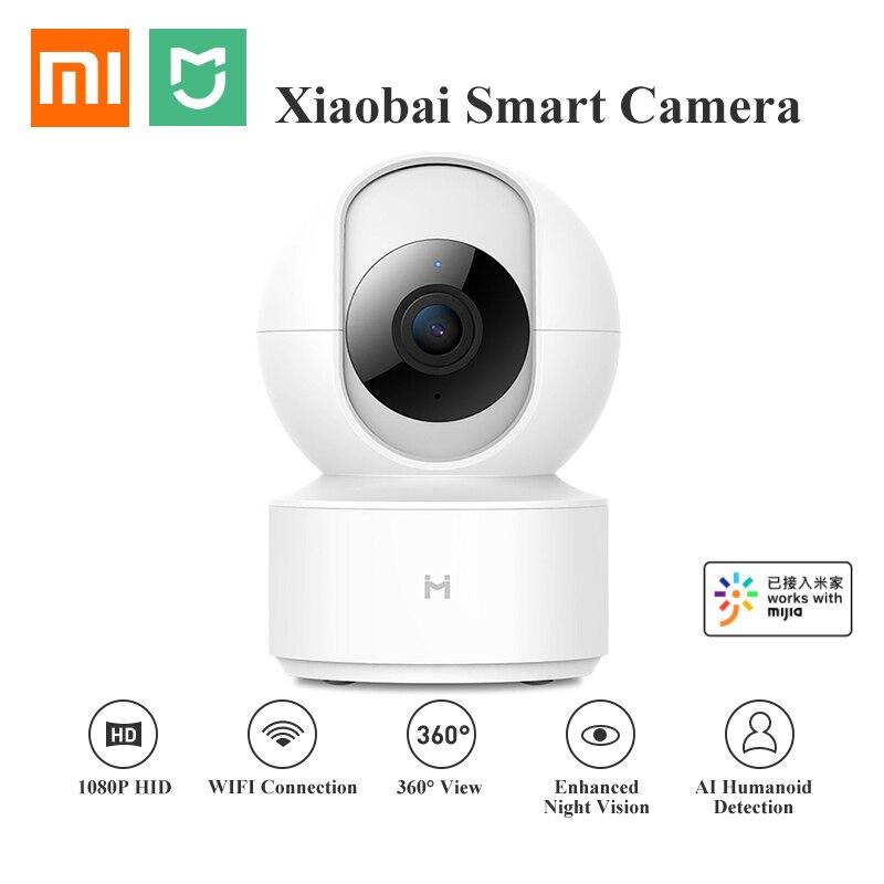 Atualização xiao mi jia chuang mi 1080 p hd câmera ip sem fio 360 ângulo cctv wifi pan-tilt visão noturna webcam para mi casa inteligente