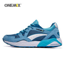 ONEMIX Men Running Shoes for Women Light Retro Mesh Breathable Trail Athletic Blue Sports Outdoor Trekking Walking Sneakers 2018
