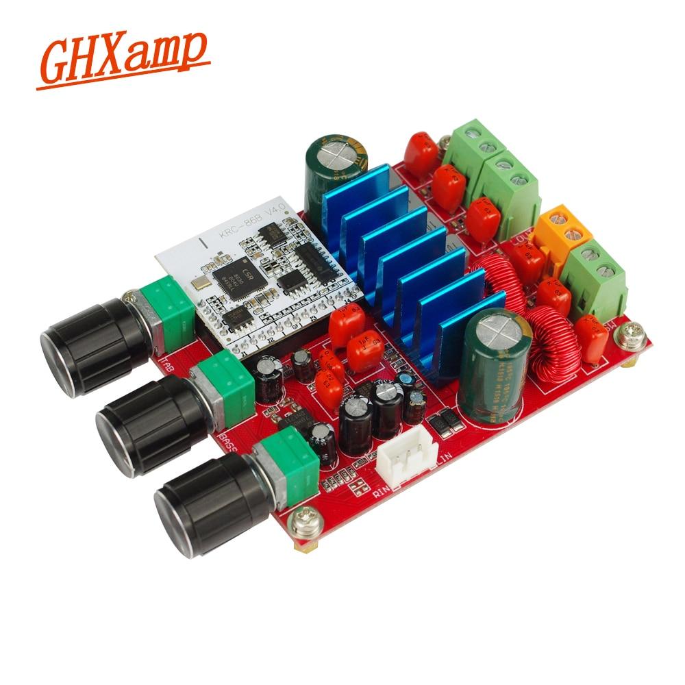 Protable 2.1 TPA3116 Amplificateur Audio Conseil Bluetooth CSR8630 Subwoofer 50 w * 2 + 100 w Amplificateur De Voiture Haut-Parleur PC DIY DC24V
