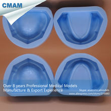 CMAM-DENTAL17-1 Dental Plaster Model Mold of Edentulous Jaw Silicon Complete Cavity Block, Edentulous Model