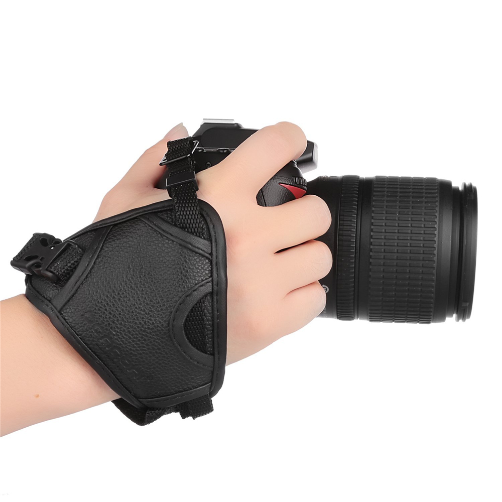 DSLR Camera PU Leather Grip Rapid Wrist Strap Soft Hand Grip Camera Bag Universal for Canon Nikon Sony Olympus Black Wholesale protective soft inner padded bag for canon nikon sony dslrs black