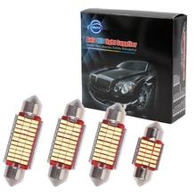 100pcs c5w 31 36 39 41mm SJ 3014 LED Canbus LED c5w Festoon Lights License Plate Aluminum shell Dome Reading Bulb NO ERROR 12v