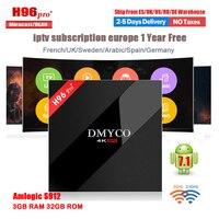 H96 Pro TV Box 3GB 32GB Amlogic S912 Octa Core Android 7 1 French Arabic Spain