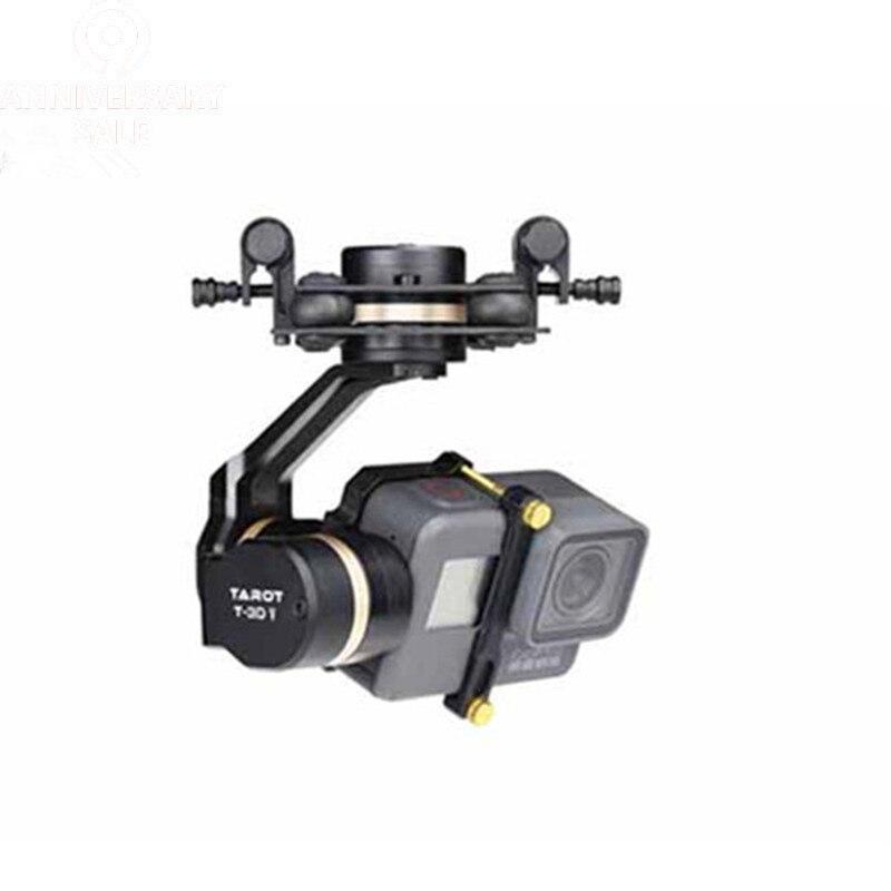 Tarot 3D V métal 3 axes PTZ cardan pour Gopro Hero 5 caméra Stablizer TL3T05 pour FPV Drone système Action Sport caméra 50% de réduction