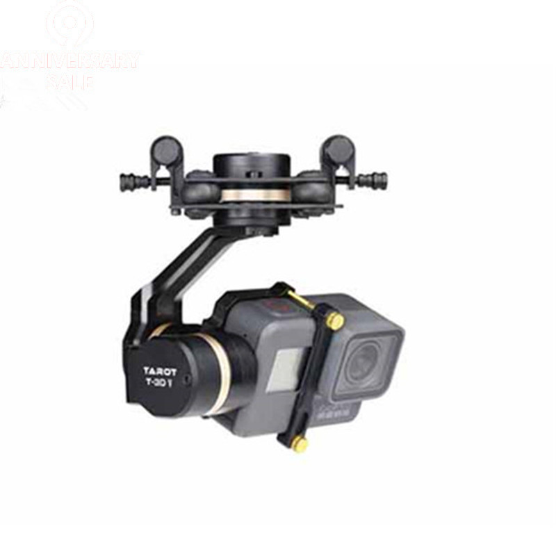 Tarot 3D V métal 3 axes PTZ cardan pour Gopro Hero 5 caméra Stablizer TL3T05 FPV Drone système Action Sport 50% OFF