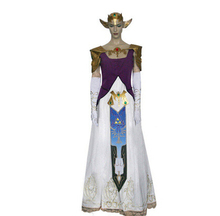 New Arrivel  The Legend of Zelda Princess Cosplay Costume party Halloween dress customized any size