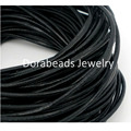 DoreenBeads Black Color Round Real Leather Jewelry Cord 1.5mm 10M length (B04211), yiwu