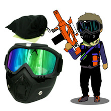 цены Retro Harley Tactical Mask Goggle of EKIND For Nerf N-strike Elite Toy Gun Game Rival Ball