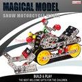 Envío libre de Metal de juguete para niños de aleación modelo de moto de nieve DIY asamblea juguetes entre padres e hijos