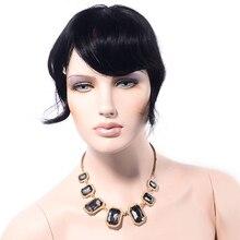 LADYSTAR remy волосы челка для женщин человеческие волосы один кусок Клип В Волосы взрыва/бахрома можно отрезать любой длины, как вам нравится