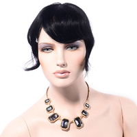 LADYSTAR Remy Hair Bangs for Women Human Hair One Piece Clip in Hair Bang / Fringe Can Be Cut Any Length As You Like