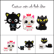 Hot sale cartoon cats usb flash drive cute animals pen 4GB 8GB 16GB 32GB 64GB memory stick Personalized gift pendrive