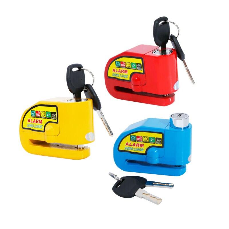 110DB Security Anti-theft Alarm Disc Brake Lock Motorcycle Bike Lock Red/Blue/yellow