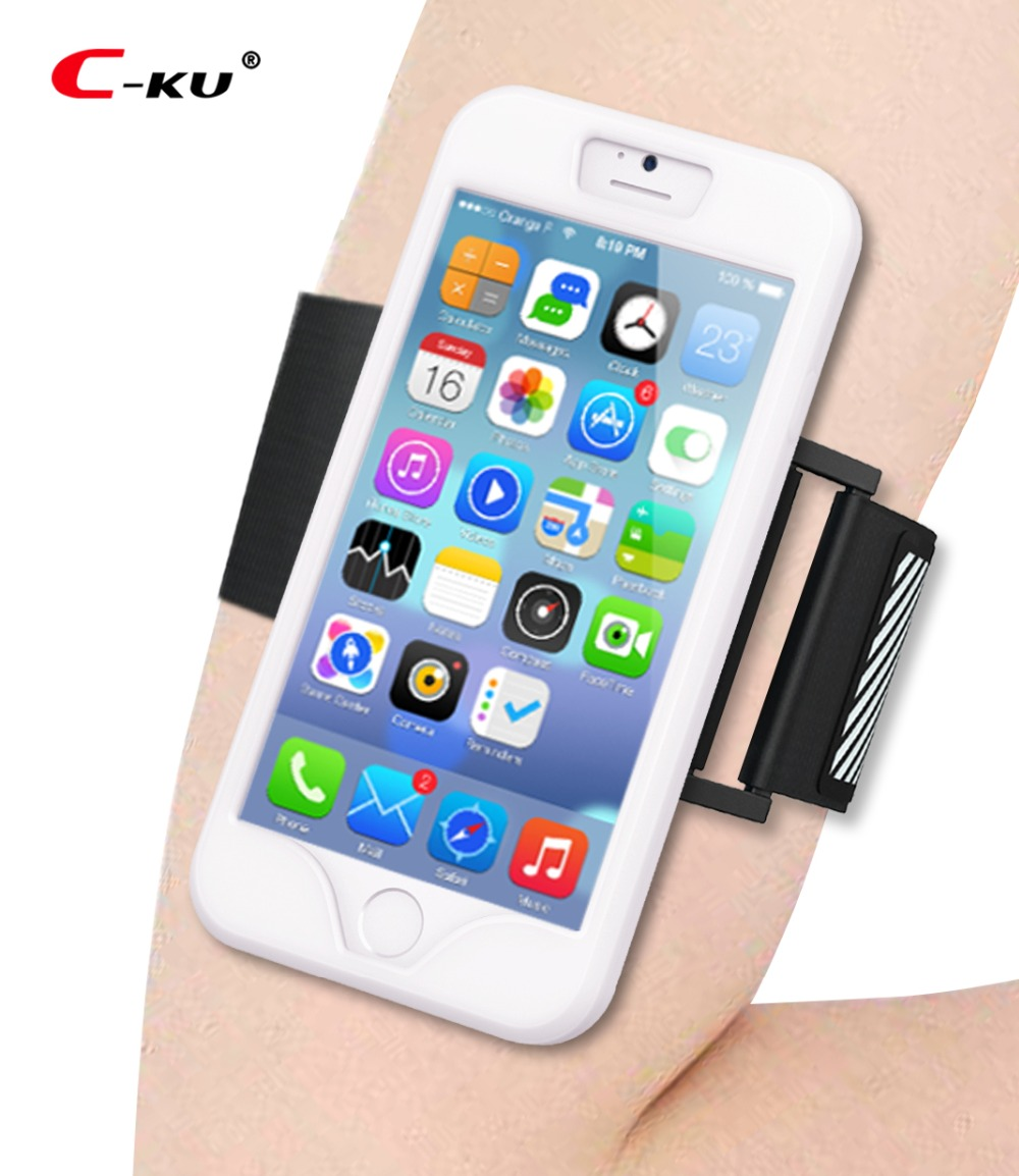 Sports Arm Band + Case for iPhone 6S 5S Running Phone Cover Reflective Safe