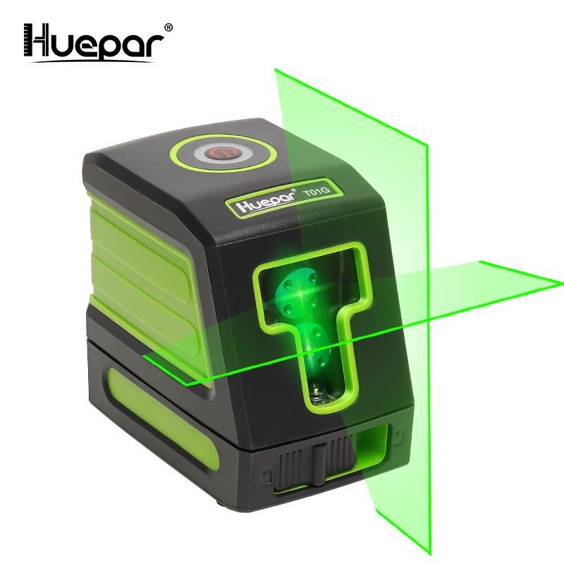 Huepar Auto-nivelamento Vertical & Horizontal Lasers Verdes Nivel A Laser com Osram Feixe de Linha Transversal Nível Do Laser Cabeça Do Laser modelo