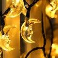 Solar Powered Luzes de Fadas String de 20ft 30LED Em Forma de Lua para Ao Ar Livre, pátio, Quintal, Jardim, Casas, Casamento, Natal, Festa, Férias