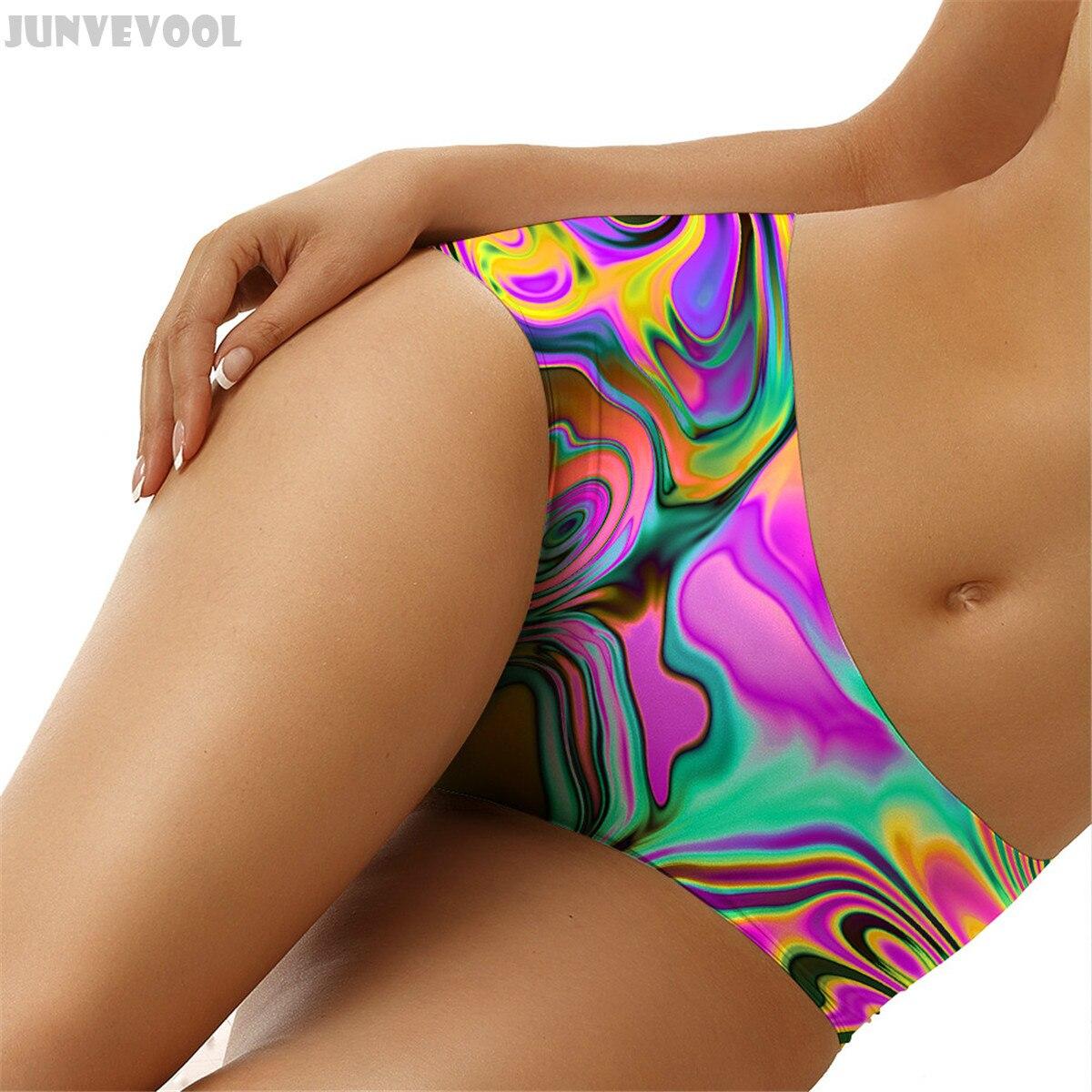 Buy Underwear Female Geometry Intimates Lady Women's Seamless Briefs Dizziness Stripes Panties Knickers Bikini Lingerie Underpants