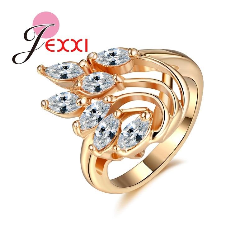NºJEXXI модные золотые Цвет кольца для Женская обувь, белый цвет ... 748a4ae5eb8