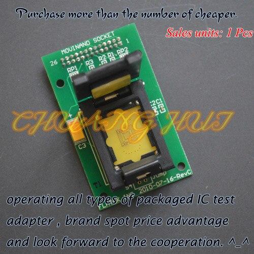 EMMC 169/153 Test Socket Size=14X18mm Pitch=0.5mm