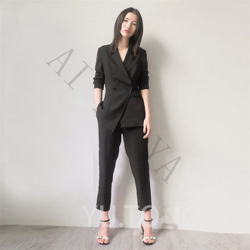 Office Suits Top and Pant Set Women Business Suits Formal Office Suits Work Formal Pant Suits for Wedding High Quality Fashion