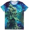[Amy] 2015 Top Hot t-shirt men/boys/girls/women 3d t shirt star sky Seaweed print t shirts short sleeve summer tee LY306